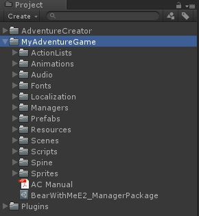 Adventure Creator project better
