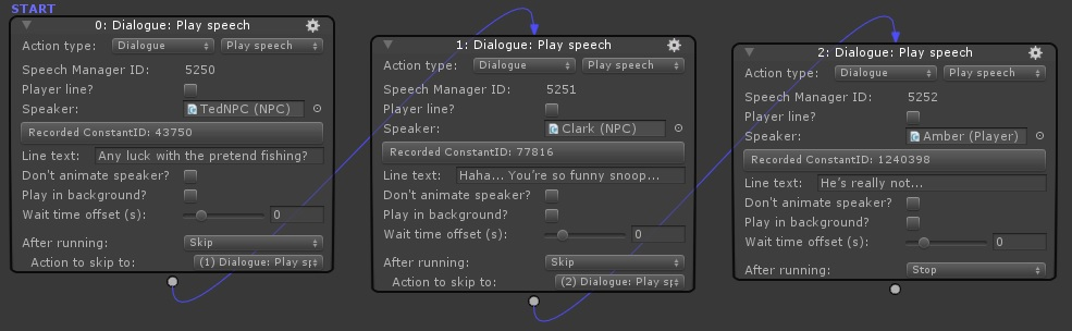Adventure Creator Dialogue - Play speech actions